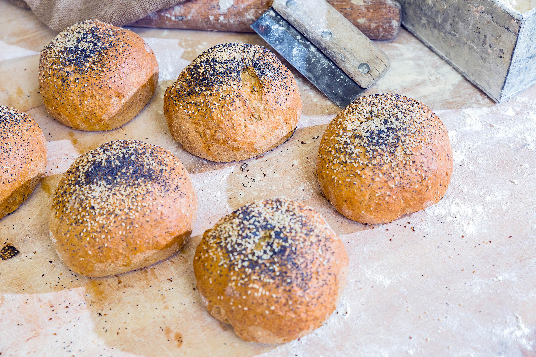 Artisan bread rolls